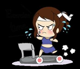 The exercise of plump girl (EN) sticker #7772289