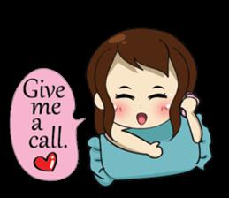 The exercise of plump girl (EN) sticker #7772298