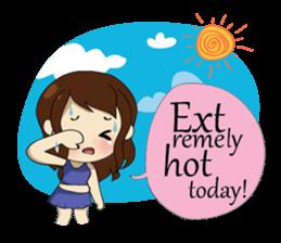 The exercise of plump girl (EN) sticker #7772305