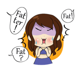 The exercise of plump girl (EN) sticker #7772306