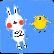 สติ๊กเกอร์ไลน์ Lazy Rabbit & Mr.Chu: Summer Edition
