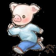สติ๊กเกอร์ไลน์ Fuzz piggy2
