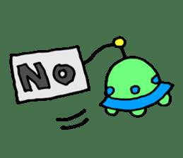 mustached alien sticker #7785797