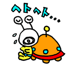 mustached alien sticker #7785800