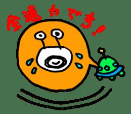 mustached alien sticker #7785806