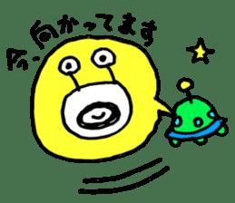 mustached alien sticker #7785807