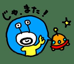 mustached alien sticker #7785808