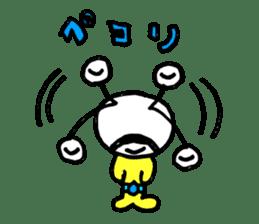 mustached alien sticker #7785814