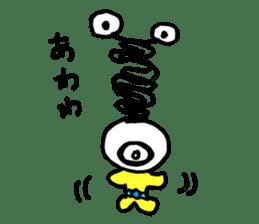 mustached alien sticker #7785818