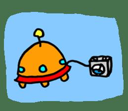 mustached alien sticker #7785821