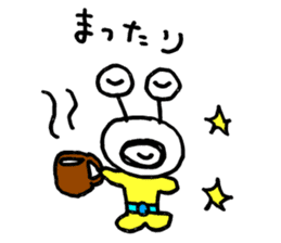 mustached alien sticker #7785826