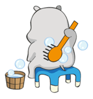 Homma the hippo sticker #7786305
