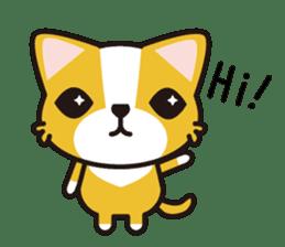 cuteChihuahua with daily conversations E sticker #7795132