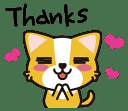 cuteChihuahua with daily conversations E sticker #7795139