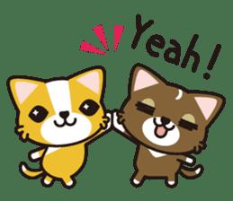 cuteChihuahua with daily conversations E sticker #7795150