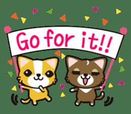 cuteChihuahua with daily conversations E sticker #7795154
