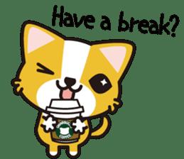 cuteChihuahua with daily conversations E sticker #7795156
