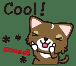 cuteChihuahua with daily conversations E sticker #7795169