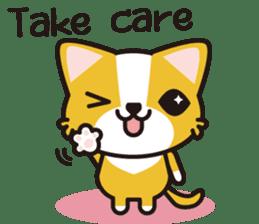 cuteChihuahua with daily conversations E sticker #7795170