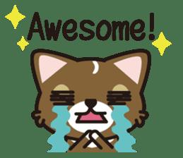 cuteChihuahua with daily conversations E sticker #7795171