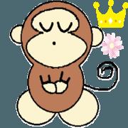 สติ๊กเกอร์ไลน์ Classic of Monkey God father