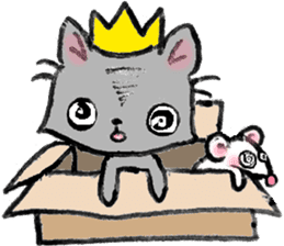 Cat in a box. Cat in a Fort. I sticker #7796456