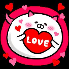 Cat Love balloon
