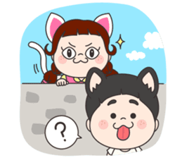 yoni&wooni, Cute brother and sister! sticker #7798886