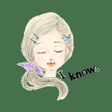 Between Girl's Calmness & Passion sticker #7801582