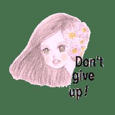 Between Girl's Calmness & Passion sticker #7801584