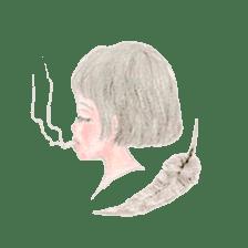 Between Girl's Calmness & Passion sticker #7801588