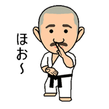 Karate instructor Yanaoki's. sticker #7810777
