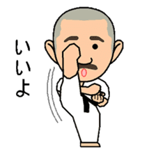 Karate instructor Yanaoki's. sticker #7810779