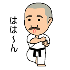 Karate instructor Yanaoki's. sticker #7810780