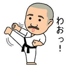 Karate instructor Yanaoki's. sticker #7810781