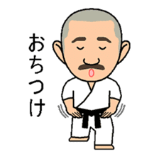 Karate instructor Yanaoki's. sticker #7810794
