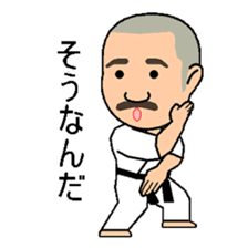 Karate instructor Yanaoki's. sticker #7810799