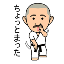 Karate instructor Yanaoki's. sticker #7810803