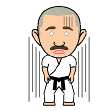 Karate instructor Yanaoki's. sticker #7810806