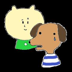 Green Cat and Border Dog