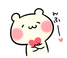 I love you chibikuma sticker #7820012