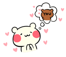 I love you chibikuma sticker #7820039