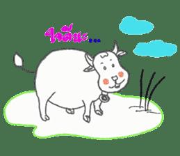 cozy animals sticker #7827861