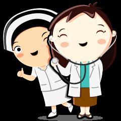 สติ๊กเกอร์ไลน์ คุณหมอตุลยากับพยาบาลเก๋