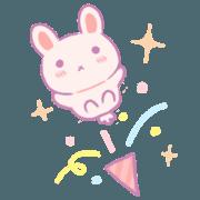 สติ๊กเกอร์ไลน์ Berry Bunny: เฉลิมฉลอง