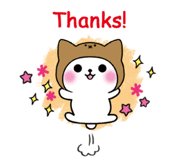 Cute cat of the hat (ENG.ver) sticker #7847892