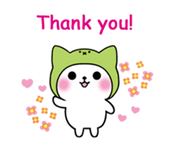 Cute cat of the hat (ENG.ver) sticker #7847893