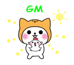 Cute cat of the hat (ENG.ver) sticker #7847897