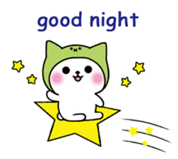 Cute cat of the hat (ENG.ver) sticker #7847902