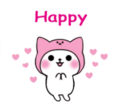 Cute cat of the hat (ENG.ver) sticker #7847905
